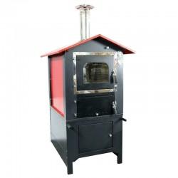 Forno a legna Metalfer ventilato inox 3 piani con carrello smontabile barbecue