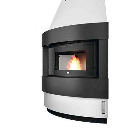 Stufa a pellet angolare 12 kW eva calor Raffaello